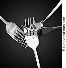 four silver forks