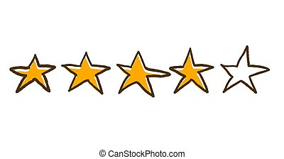 Four stars feedback rating. Vector illustartion