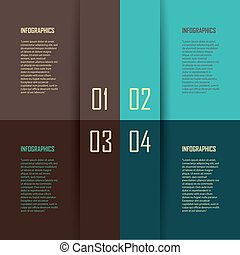 four steps - abstract four easy steps on rectangles with ...
