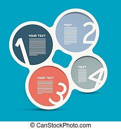 Four Steps Circle Infographic Layout - Vector Template
