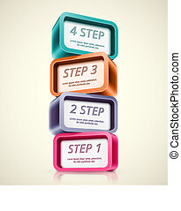 Four steps, infographics banner. Illustration contains...