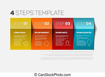 Four steps template