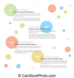 Four steps template with circles