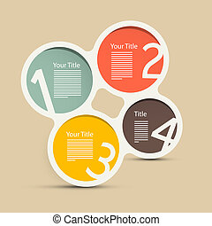 Four Steps Vector Circle Infographic Layout