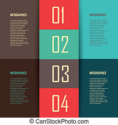 four steps - abstract four easy steps on rectangles with...
