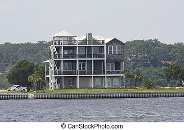 four story coastal home