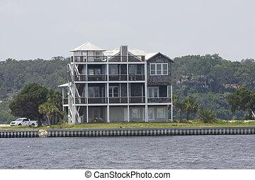 four story coastal home