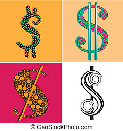 four symbols of money