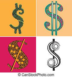 four symbols of money