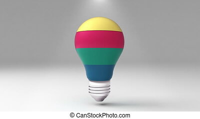 Four title 3D bulb shape box, visualization shape a light bulb, presentation templete.