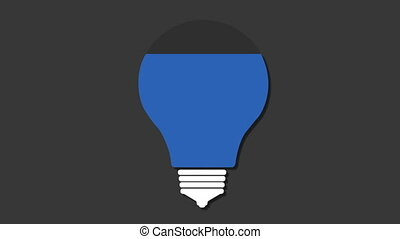 Four title box, visualization shape a light bulb,...