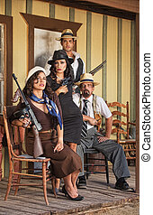 Four Tough Gangsters - Four tough male and female gangsters...
