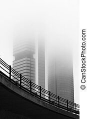 Four towers business area. - Skycrapers in the center of ...
