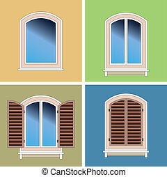 Four types of classical windows - Four types of classical...