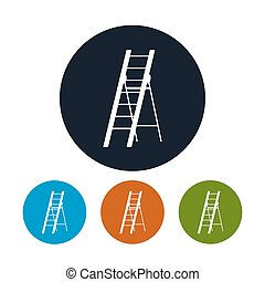 Four Types of Round Icons Ladder