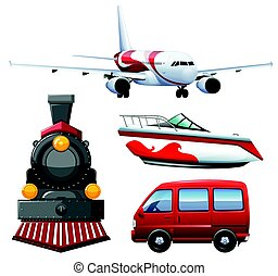 Four types of transportations