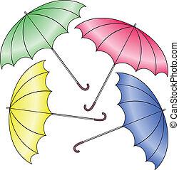 four umbrella