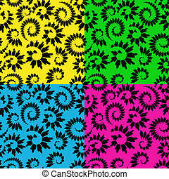 vector abstract seamless floral background