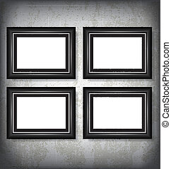 Picture Frames - Four Vector Picture Frames Mock Up