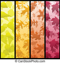 Four vertical autumn banners