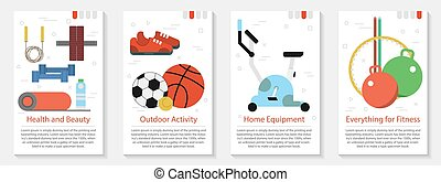 Four vertical banner for fitness