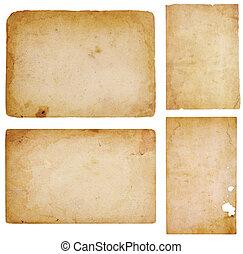 Four Vintage Paper Scraps