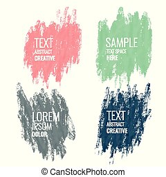four watercolor banner with text space