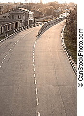 Four way paved road in Lviv, Ukraine