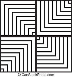 Four ways stairs illusion