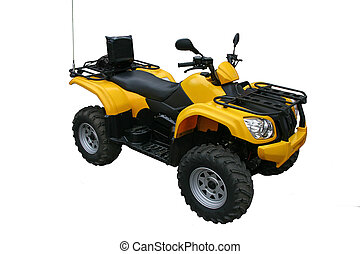 Four-wheel sports off-road motorcycle isolated