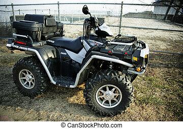 Four wheel motorcycle