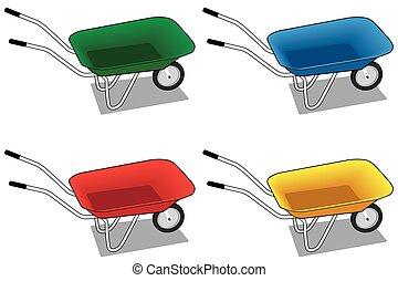 Four Wheelbarrows