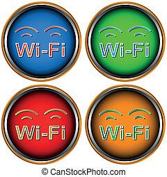 Four Wi-Fi icons