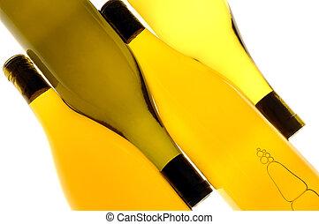 Four Wine Bottles