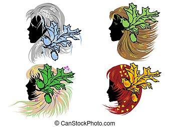 four women as seasons