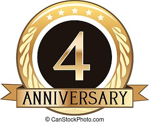 Four Year Anniversary Badge