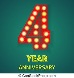 Four year anniversary light background