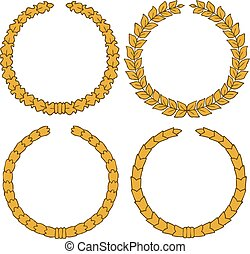 Four yellow wreath