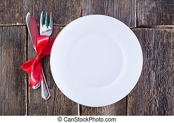 fourchette, couteau tableau