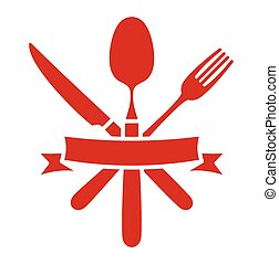 fourchette, cuillère, couteau, -, coutellerie