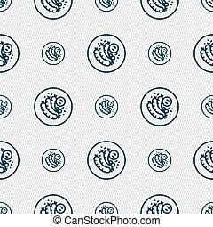 fourchette, modèle, signe., saucisse, seamless, vecteur, grillé, géométrique, texture., icône