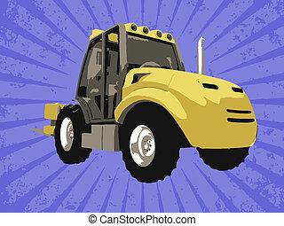 fourchette, vecteur, camion
