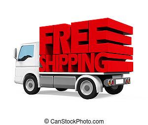 fourgonnette de livraison, gratuite, expédition
