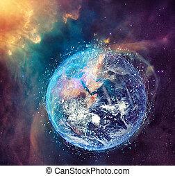 fourni, concept, réseau, global, nasa., connexion, internet, mondiale