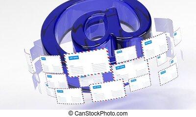fournir, livraison, connectivité, emails., courrier, mail., ...