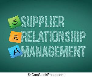fournisseur, gestion, planche, relation