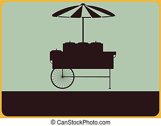 fournisseurs, charrette