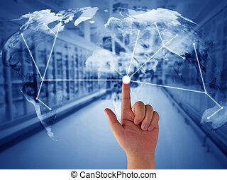 fourniture, chaîne, concept, gestion