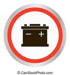 alimentation nergie batterie auto isol accumulator clip art vectoriel rechercher des. Black Bedroom Furniture Sets. Home Design Ideas