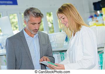 fournitures, monde médical, choisir, homme